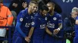 Leicester celebrate their winner against FCK