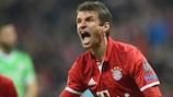 O Arsenal foi vítima de Thomas Müller em várias ocasiões