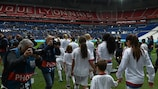 OL put seven past Paris at the Stade de Lyon in last season's semi-finals