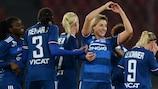 Claire Lavogez jubelt über eines ihrer beiden Tore für Lyon