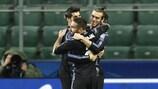 L'esultanza di Gareth Bale dopo il suo gol al primo minuto di gioco