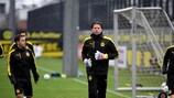 Roman Weidenfeller im letzten Training vor dem Warschau-Spiel