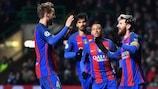 Lionel Messi scored both goals as Barcelona beat Celtic 2-0
