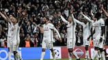 Beşiktaş celebrate with their fans after a memorable comeback against Benfica
