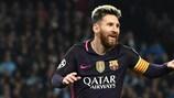 Lionel Messi tem estado num momento de forma excepcional nesta edição da UEFA Champions League