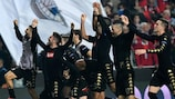 Napoli celebrate victory at Benfice