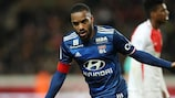 Alexandre Lacazette was on target as Lyon defeated Monaco