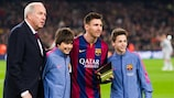 Carles Rexach and his most famous footballing discovery