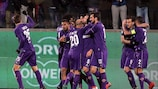 Milan Badelj (centre) was on the scoresheet as Fiorentina downed Juventus