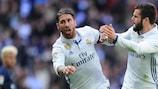 Sergio Ramos has scored a career best six Liga goals this season