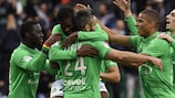 Loïc Perrin was among the scorers as St-Étienne beat Lorient 4-0