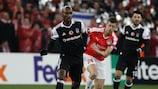 Atiba Hutchinson (left) gave Beşiktaş a potentially irretrievable 3-1 first-leg lead in Israel