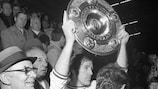 Günter Netzer nach Gladbachs erstem Bundesliga-Titel 1970