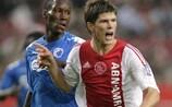 El delantero del Schalke Klaas-Jan Huntelaar durante su época en el Ajax