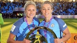 City and England colleagues Steph Houghton and Lucy Bronze