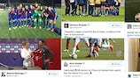 The quarter-final first legs in tweets