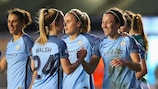 Manchester City celebrate Lucy Bronze's winner