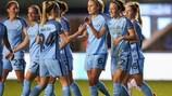 Manchester City comemora o golo de Lucy Bronze