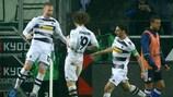 """Оскар Вендт (слева) только что поразил ворота """"Шальке"""""""