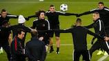 Paris beim Training