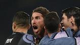 Sergio Ramos después del segundo tanto