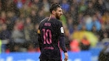 Lionel Messi looks on during Barcelona's loss to Deportivo