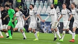 Todos los jugadores de la Juventus trabajan en defensa