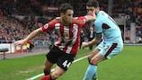 Adnan Januzaj en un partido con el Sunderland