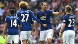 Zlatan Ibrahimović was on target for Manchester United