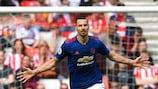 L'esultanza di Zlatan Ibrahimović dopo il gol al Sunderland