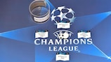Draw slips are set up backstage ahead of the UEFA Champions League semi-final draw