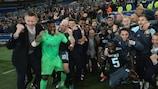 Ajax celebrate after sealing a final spot