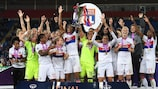 Lyon celebrate retaining the title