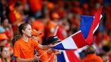 Dutch fans at the Belgium game