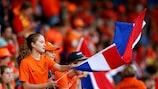 Les fans des Pays-Bas lors de la rencontre face à la Belgique
