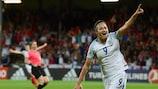 Jodie Taylor celebra su gol contra Francia en cuartos de final