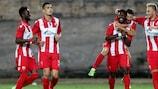 Roter Stern Belgrad, Europapokalsieger von 1991, hat sich am Donnerstag vqualifiziert