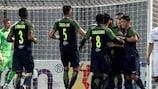O Salzburgo derrotou confortavelmente o Hibernians na primeira mão da segunda pré-eliminatória