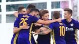 Luka Zahovič (Mitte) brachte Maribor in Führung
