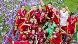Spain defeated France 3-2 in Belfast to lift the trophy