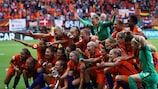 The Netherlands celebrate their final triumph