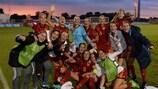 España celebra su pase a semifinales