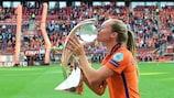 La joueuse de l'Ajax Desiree van Lunteren a aidé les Pays-Bas à remporter le Championnat d'Europe féminin de l'UEFA