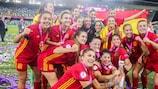A Espanha festeja o triunfo no Europeu Feminino Sub-19 de 2017