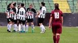PAOK celebra golo no decisivo jogo contra o Sarajvo