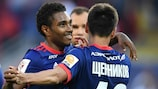 CSKA scored two late goals to beat Russian champions and city rivals Spartak