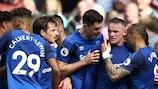 Wayne Rooney marcou no sábado ao Stoke na sua segunda estreia pelo Everton na liga