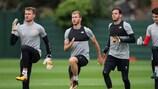 Entrenamiento de los jugadores del Liverpool