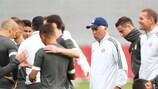 Abschlusseinheit vom FC Bayern vor dem Duell mit Anderlecht