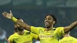 Pierre-Emerick Aubameyang gelangen gegen Gladbach drei Tore